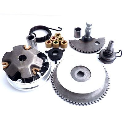 Front Clutch Variator + Kick Start Shaft Gear Spring 139QMB GY6 50 Scooter Moped