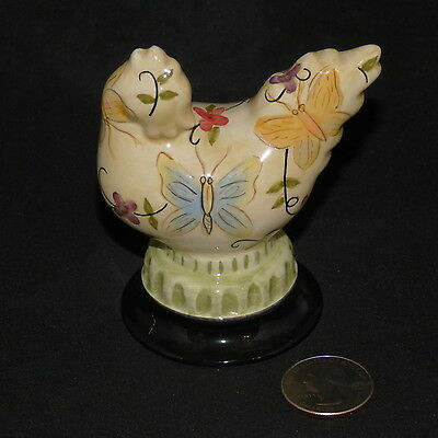 Decorative Ceramic Chicken Butterfly Hen French Country Tracy Porter 2003 Tiny