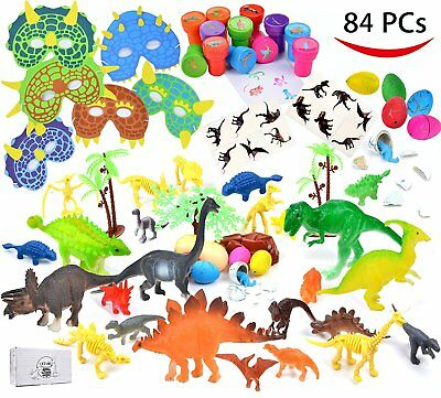 84 Pieces Dinosaur Birthday Party Gifts Classroom Rewards HALLOWEEN NEW SUPPLIES