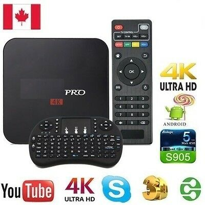 MXQ PRO 4K Android tv box With full keyboard Android 6.0 17.3 Krypton installed