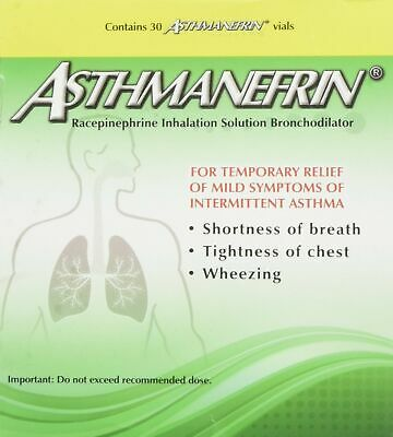 Brand New Asthmanefrin Asthma Medication Refill, 30 Count