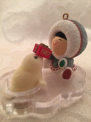 Hallmark Frosty Friends 1987 Seal Christmas Ornament 8th In Series