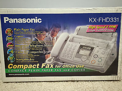 Panasonic KX-FHD331 Fax Machine Great For Home Offices NEW OPEN BOX