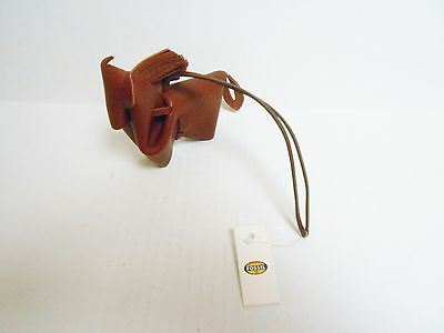 Fossil Leather Horse Bag Charm Maroon New with Tag