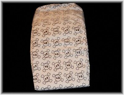 """The Honest Co.""""Skull"""" print diapers for Reborn Baby Toddler 5 diapers Size 3"""