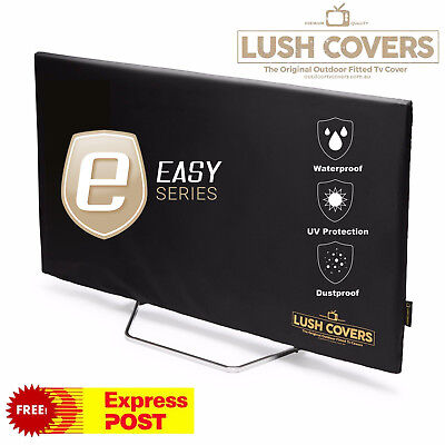 Lush Covers Easy Series 90 Inch Outdoor Fitted Waterproof Television Cover TV