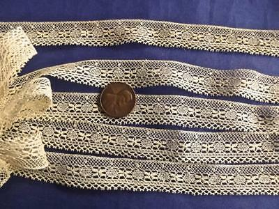 """5Yards 1/2""""Wide Antique Delicate French Cotton Lace Edging Trim Baby Dolls Dress"""