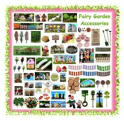 MINIATURE dollhouse / fairy garden accessories - terrarium mini doll house items