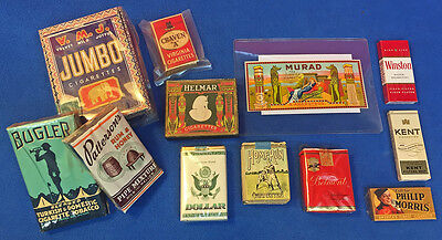 Vintage Lot Collectible Cigarette Pack And Tobacco Collection 1920's - 1950's