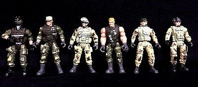 6 Elite Hero Special Force Military Army Solider Toy Plastic Figurine 10cm BULK