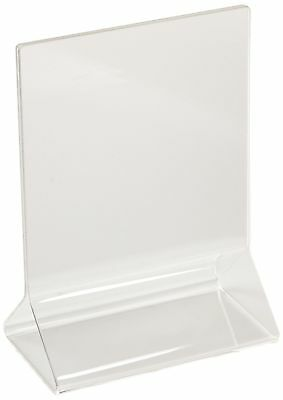 New Star Foodservice 22919 Acrylic Table Menu Card Holder, 3.5 by 5-Inch, Clear