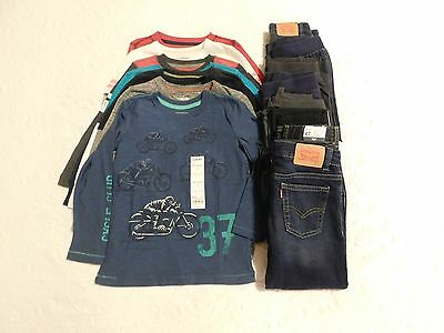 Boys Clothes Lot size 4 4T NWT Fall Winter Shirts Pants Brand New Retail $294