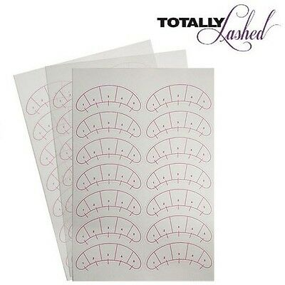 TOTALLY Lashed - Eyelash Extension MAP STICKERS Under Eye Training Guides