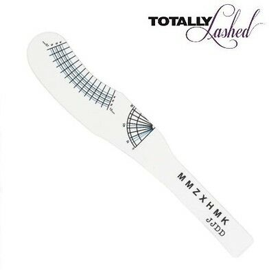 TOTALLY Lashed - Eyelash Extension LASH RULER - Measure Curl / Length Training