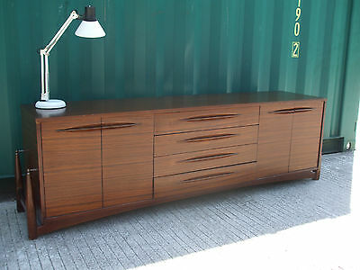 Mid-century vintage Zebrawood sdeboard by E.O.N,  ideal piece for hairpin legs
