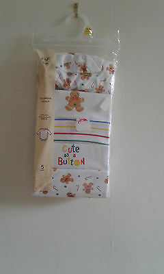 Pack Of Five Babybody Suits 0-1 Month