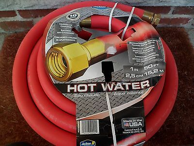 JACKSON 50-Foot 1 INCH ID. Hot Water Hose WASHDOWN CONSTRUCTION ICE RINK FARM