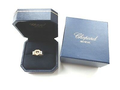 CHOPARD HAPPY DIAMONDS Ring Herz 750 Gelbgold  mit 13 Brillanten orig. Box