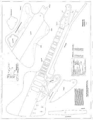 Gibson Explorer Electric Guitar Plans