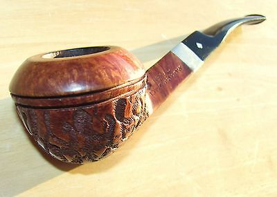 Beautiful grained carved Dr.Grabow Regal #83 Bent Bulldog clean estate pipe