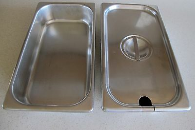 Vollrath Stainless Steel Deep Steam Table Food Pan w Lid NFS 12 x 6 x 2 1/2 + 1