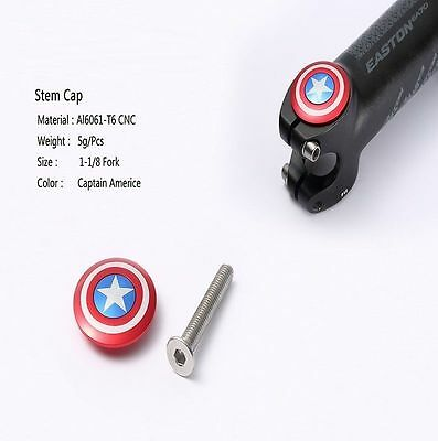 "Bicycle Stem Top Cap 28.6mm 1 1/8"" Headset Cover Captain logo"
