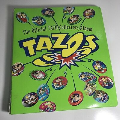 Official Tazos Complete 220 Collector Set Folder Bugs Bunny Simpsons Cheetos