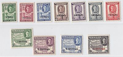 Somaliland Protectorate   1951  S G 125 - 135  Set Of 11 Mh Cat £55