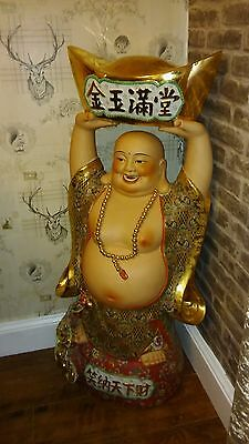 rare massive chinese laughing buddha 47 inch great for resturant/home--wealth