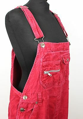 Vintage Ladies Pink Corduroy Baggy Dungarees  Festival Womens Grunge Overalls