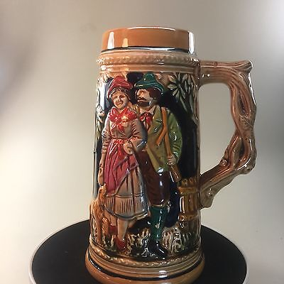 Collectible Napcoware Ceramic Beer Stein 8 Inches tall