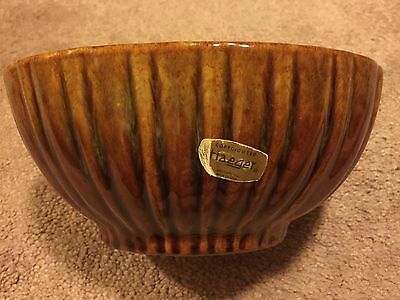 Haeger Pottery Oblong Bowl Brownish Green  #4020  Made in the USA. Macomb, IL
