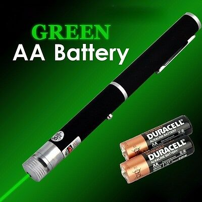 Astronomy Powerful GREEN Laser Pointer High Power Lazer Visible Beam AA Battery