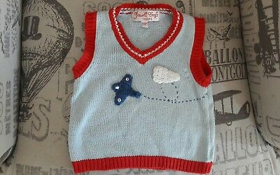 PLANE KNITTED TANKTOP POWELL CRAFT AGE 12-18 MONTHS SPITFIRE only one on ebay