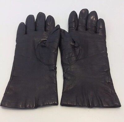 Women's Winter Geniune Leather Dress Gloves Driving Gloves Soft Lining Size 7