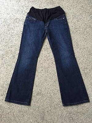 Citizens Of Humanity Bootcut Medium Wash Maternity Jeans Belly Panel Sz 32 X 30