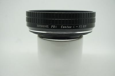 Fotodiox Pro Lens Mount Adapter - Contax G SLR Lens to Fujifilm X- Ex condition