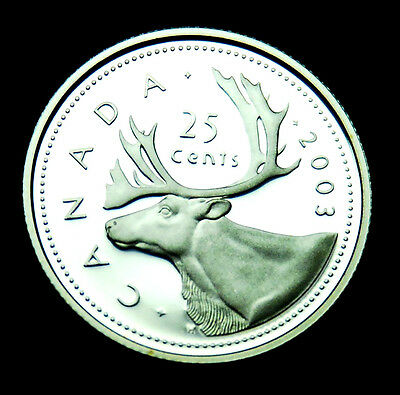 2003 Canadian 25¢ silver proof BU coin from the proof set