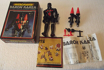 Vintage Micronauts Baron Karza Action Figure Complete in Box Mego 1977