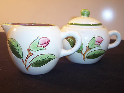 Stangl Pottery Prelude Creamer and Covered Sugar