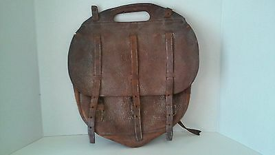Rare Vintage Antique WWI WW1 US Army Calvary Leather Saddle Carry Bag Military