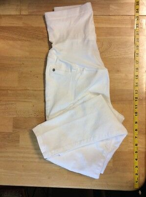 Skinny White MATERNITY JEANS Over the Belly Size 0-2 (Liz Lange)