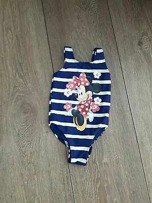 Baby Girls Minnie Mouse Swimming Costume Age 18-24  Months
