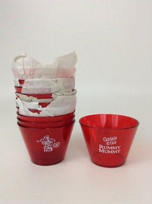 Set of 10 NEW Captain Morgan - Captain & Cola Red Plastic Cups Rummy Mummy Promo