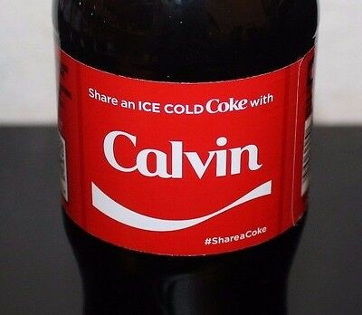2017 Share a Coke With Calvin 20oz Collectible 09/11/17