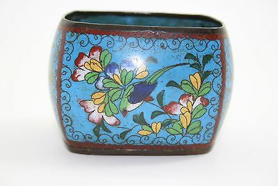 Late 19Th C Meiji Period  Japanese Cloisonne Small Planter