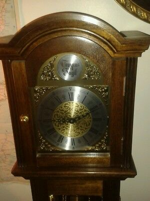 Tempus Fugit Grandmother Clock Westminster chime option.  Hand wined clock