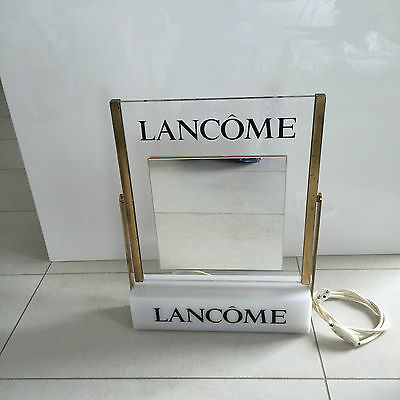 VTG MIRROR LANCÔME DOUBLE SWING & LIGHT Beauty Hair Salon French Shop Display