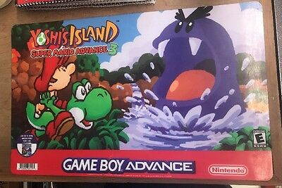Nintendo Yoshi's Island Store Display Sign Game Boy Advance Not Sold To Public