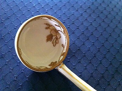 Vintage Nippon Mayonnaise Condiment Ladle/Spoon Gold Encrusted Trim